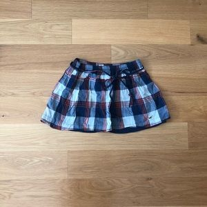 Hollister Skirt Blue White and Red